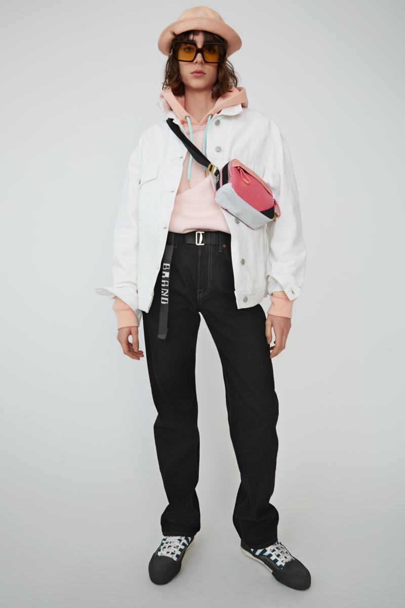Acne Studios Spring Summer 2019 Denim Collection Shirt Pink Jeans Black