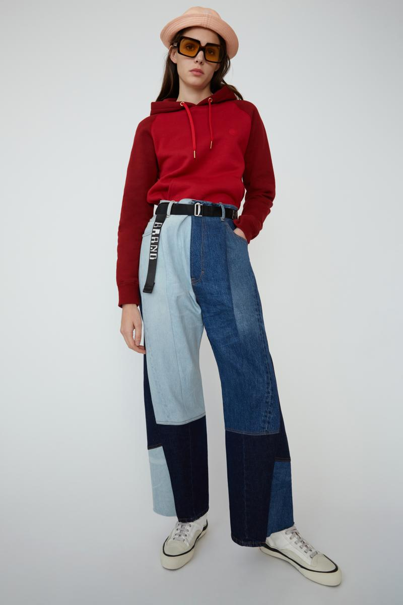 Acne Studios Spring Summer 2019 Denim Collection Sweater Red Pants Blue