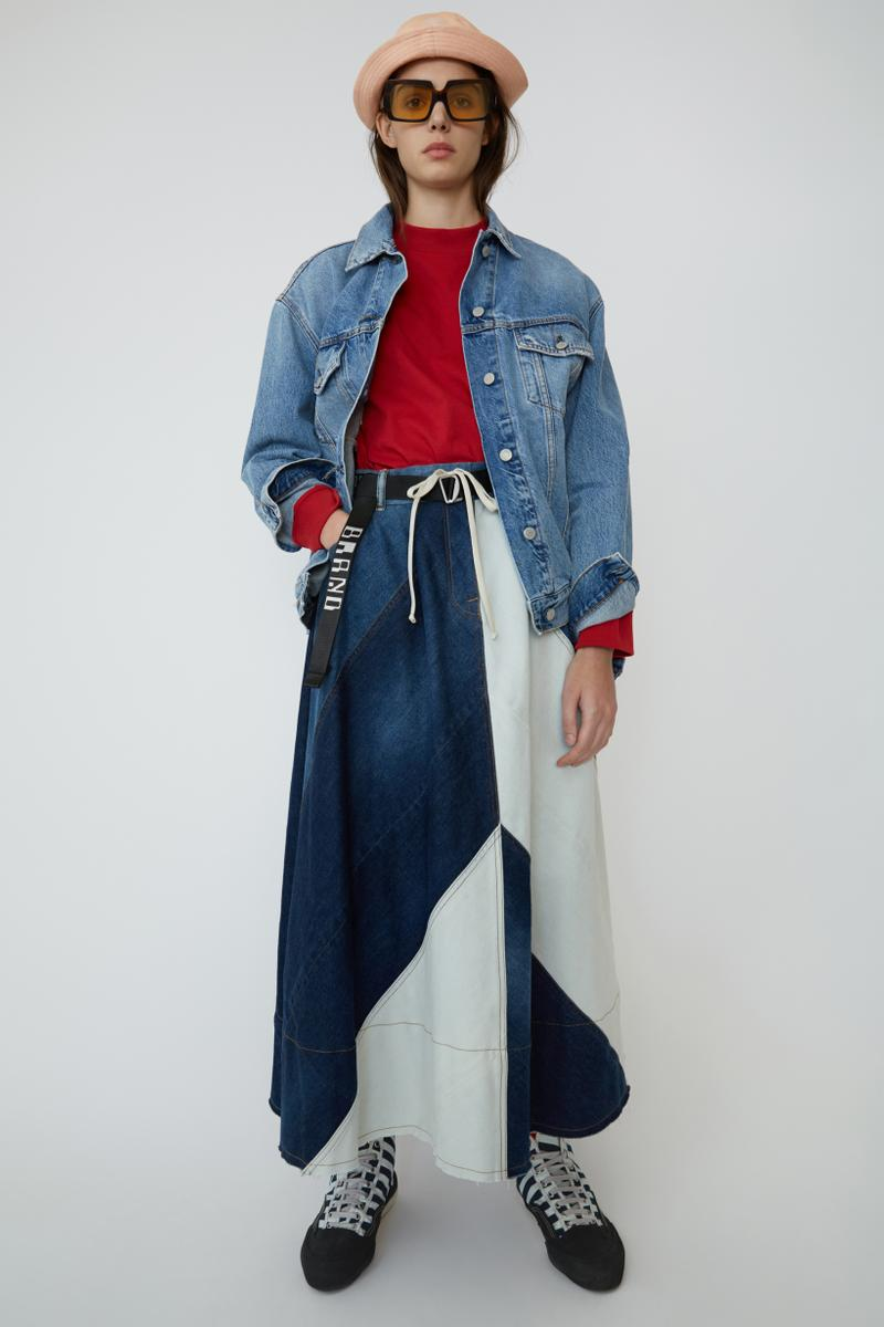 Acne Studios Spring Summer 2019 Denim Collection Shirt Red Jacket Pants Blue