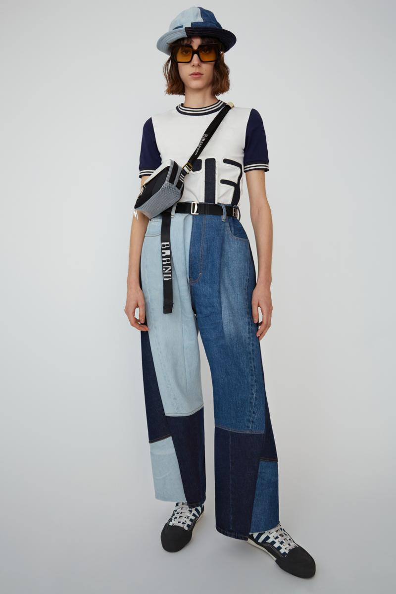 Acne Studios Spring Summer 2019 Denim Collection Shirt White Jeans Blue