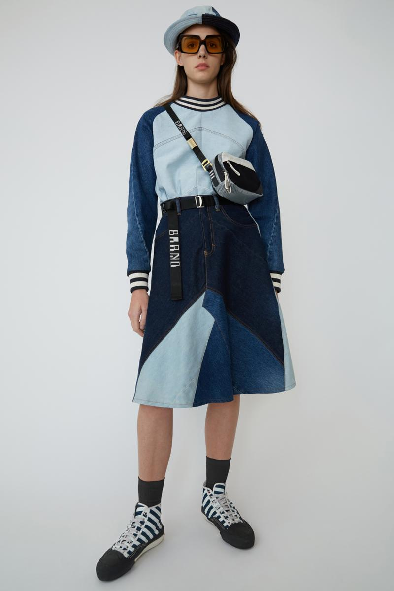 Acne Studios Spring Summer 2019 Denim Collection Shirt Skirt Bag Blue