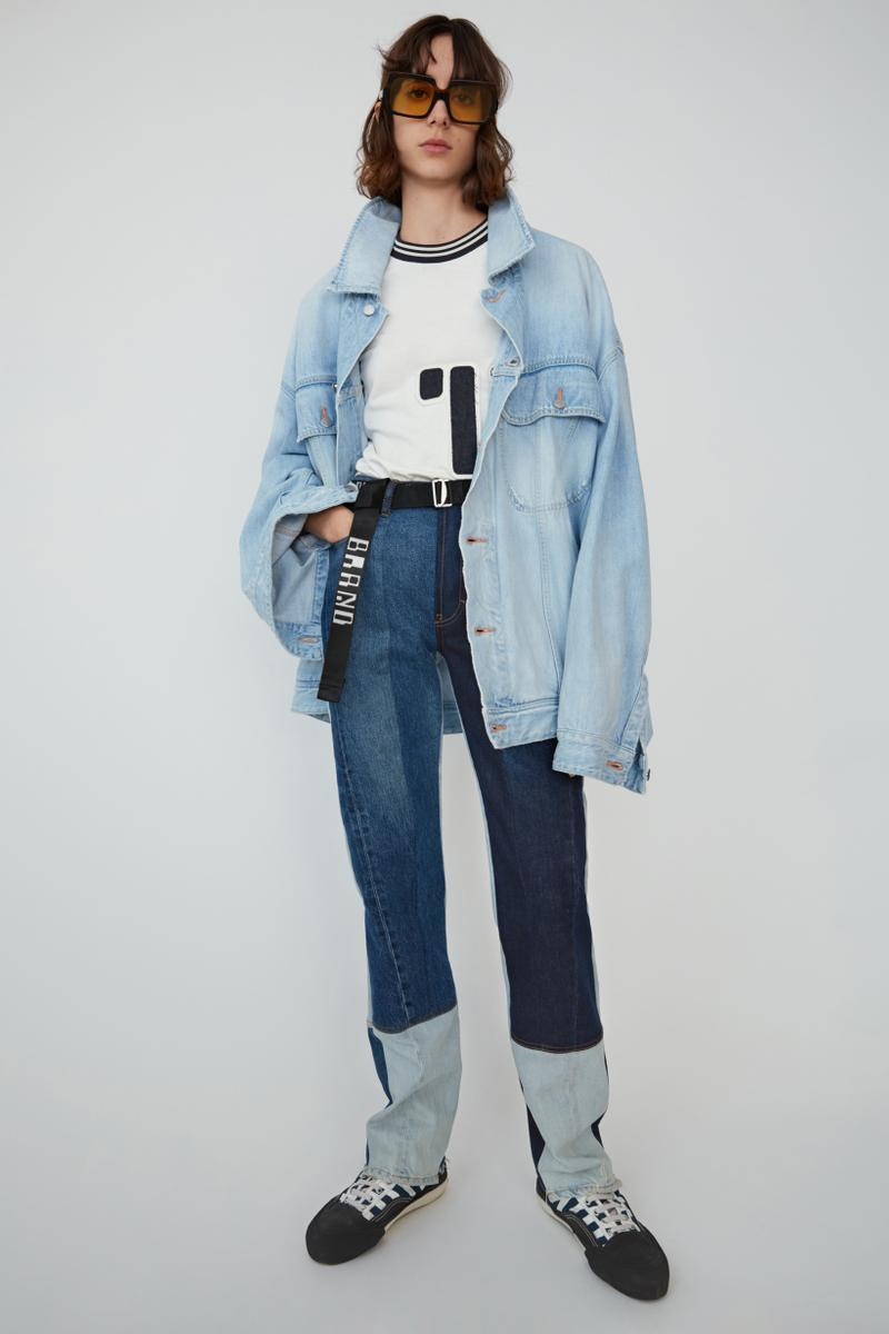 Acne Studios Spring Summer 2019 Denim Collection Jacket Jeans Blue Shirt White