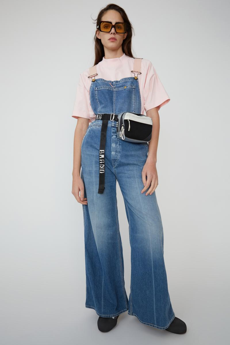 Acne Studios Spring Summer 2019 Denim Collection Overalls Blue T-shirt Pink