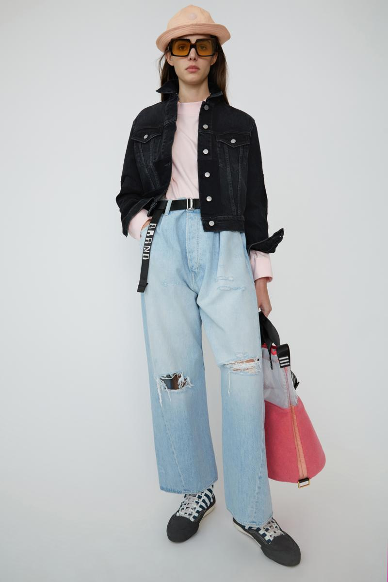 Acne Studios Spring Summer 2019 Denim Collection Shirt Pink Jeans Blue