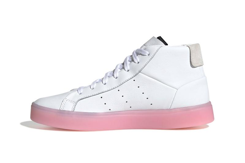 adidas Originals Sleek High Top White Pink
