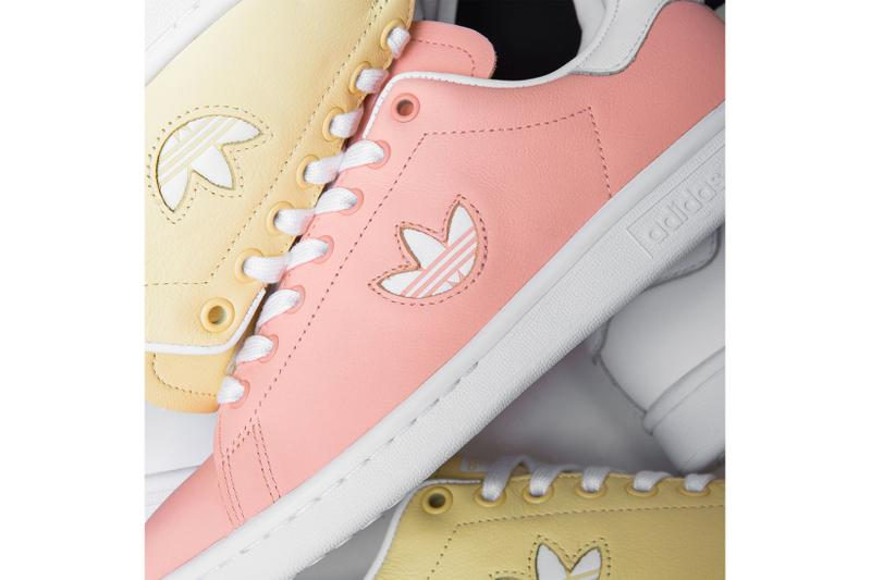 new styles 9db59 8ec86 adidas originals stan smith trefoil pack pastel minimalist clear orange  easy yellow black white