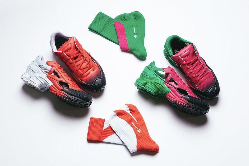 adidas x Raf Simons Replicant Ozweego Spring Drop Colorways Sneaker Shoe Release Green Red Black White