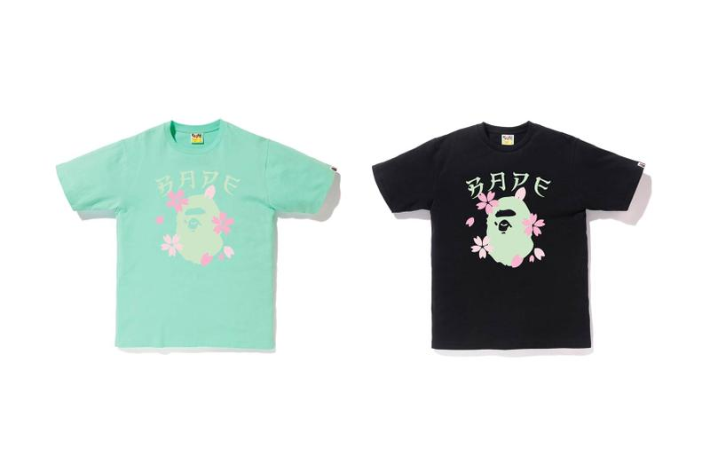 BAPE Sakura Cherry Blossom T Shirt Shorts Hats