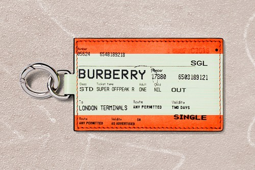 c7c86fb15265 Burberry s New Train Ticket-Inspired Keyring Will Be Available for a  Limited Time Only