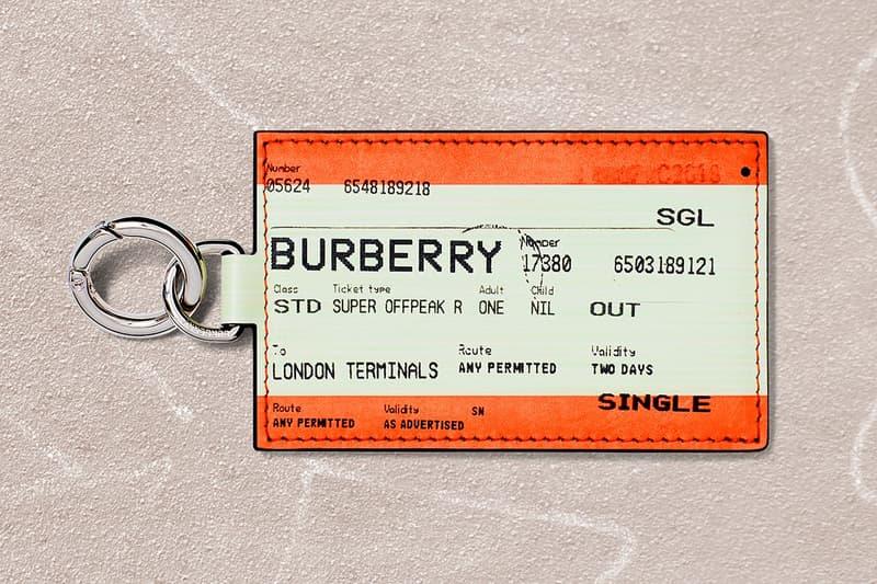 Burberry B Series Keyring Orange Cream