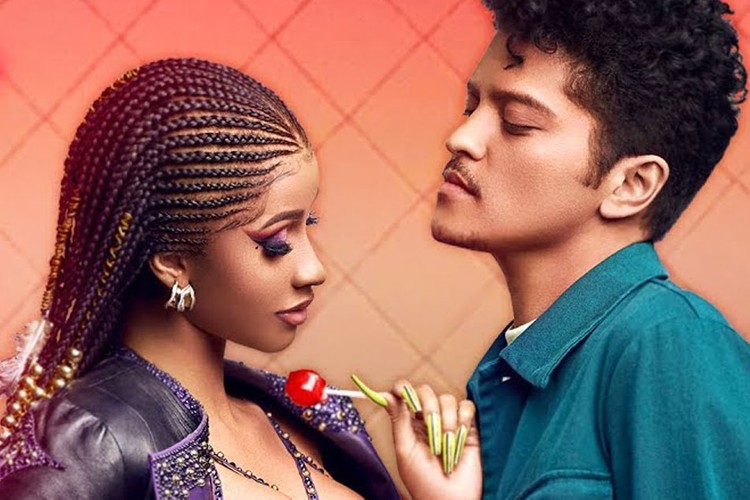 73aa48993bda Cardi B   Bruno Mars Dream Up a High School Romance in New