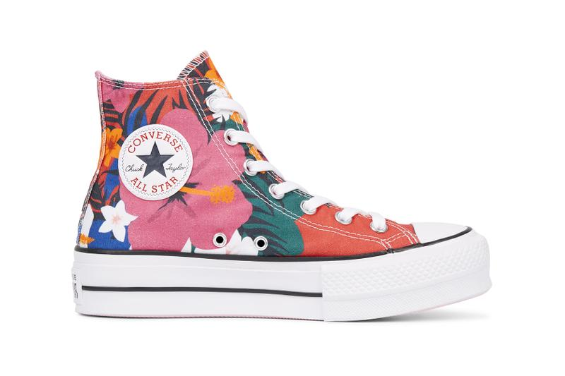 a681176907409c Converse Chuck Taylor All Star Lift Floral Platform Sneakers High Top Low  Top Tropical Floral Print