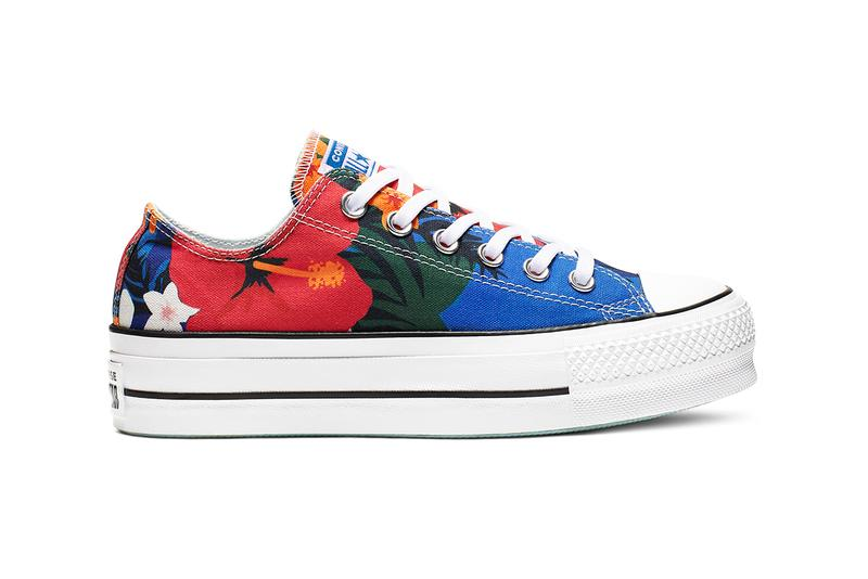 Converse Chuck Taylor All Star Lift Floral Platform Sneakers High Top Low Top Tropical Floral Print