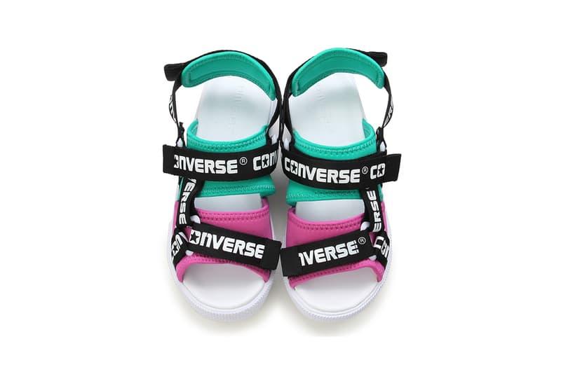 Converse Sandal Logotape Green Pink White