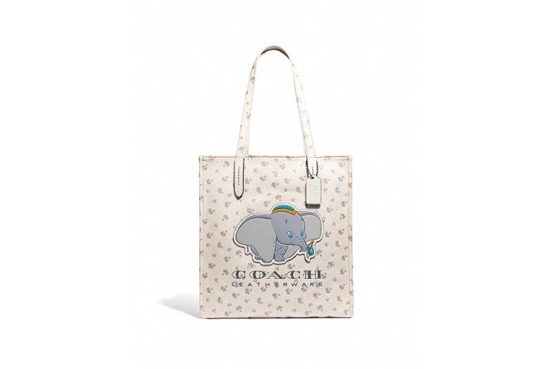 Disney x Coach Dumbo Collection Leather Tote White