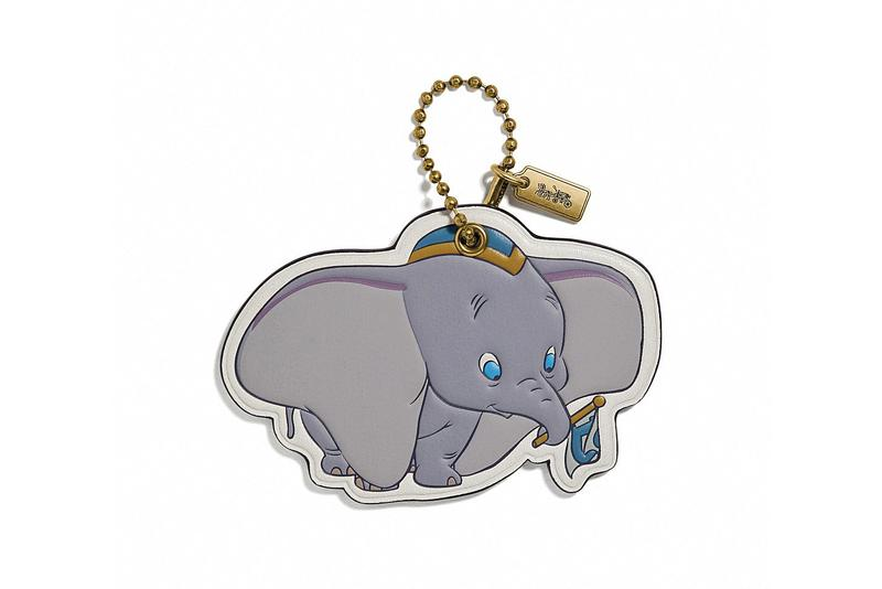 Disney x Coach Dumbo Keychain Grey Gold
