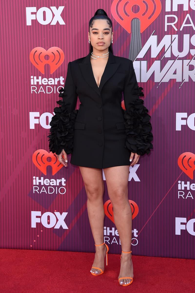 Ella Mai iHeart Radio Awards 2019 Red Carpet Look Blazer Dress Blazer