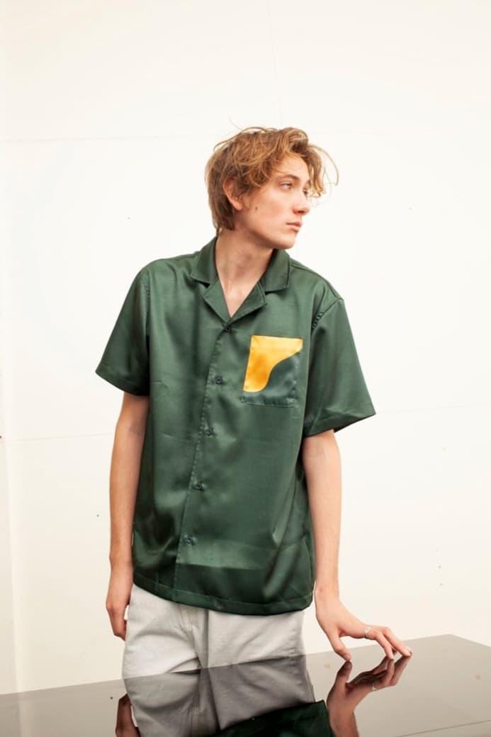 EXO Baekhyun Prive Drop Silk Shirt Green