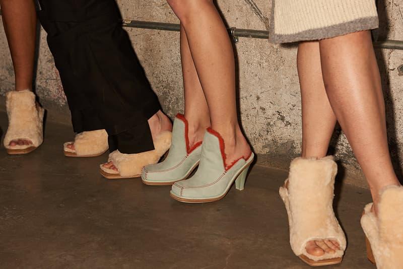 ugg eckhaus latta uggs collaboration fall winter 2019 new york fashion week runway show backstage footwear