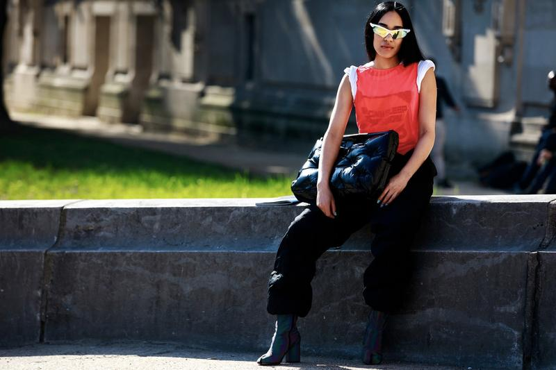 Fashion Week Street Style: Best Accessories Sunglasses Burberry Scarf Clips Ashley Williams Paris Milan New York London Fashion Week Month Streetsnaps