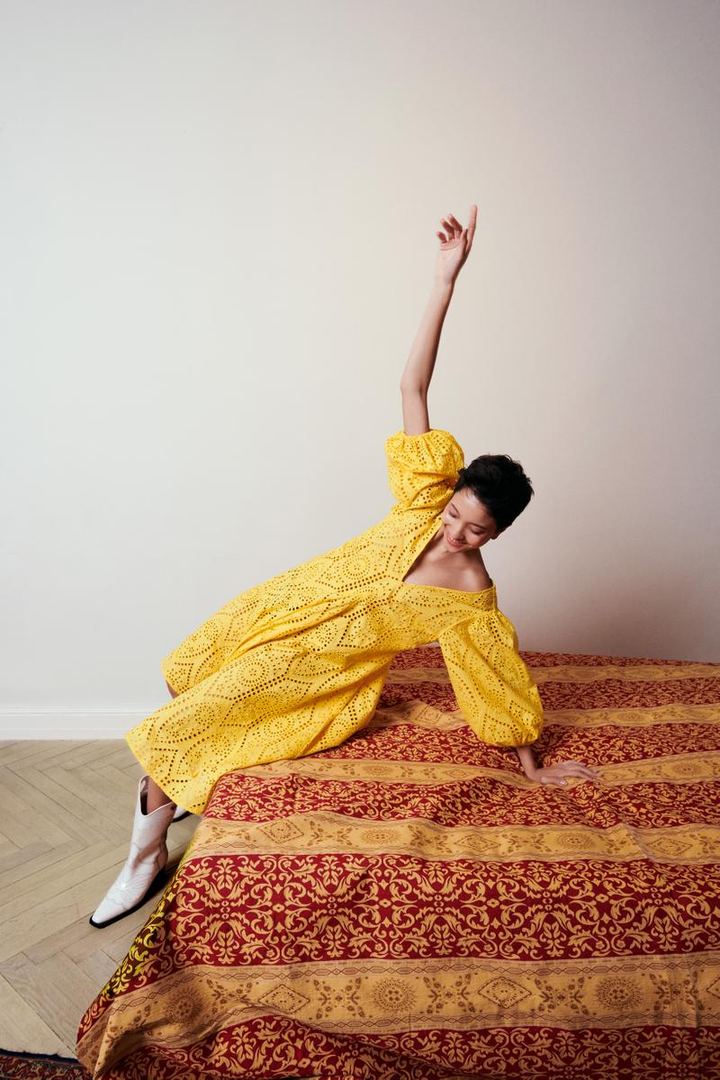 GANNI x mytheresa.com Spring Summer 2019 Capsule Collection Dress Yellow