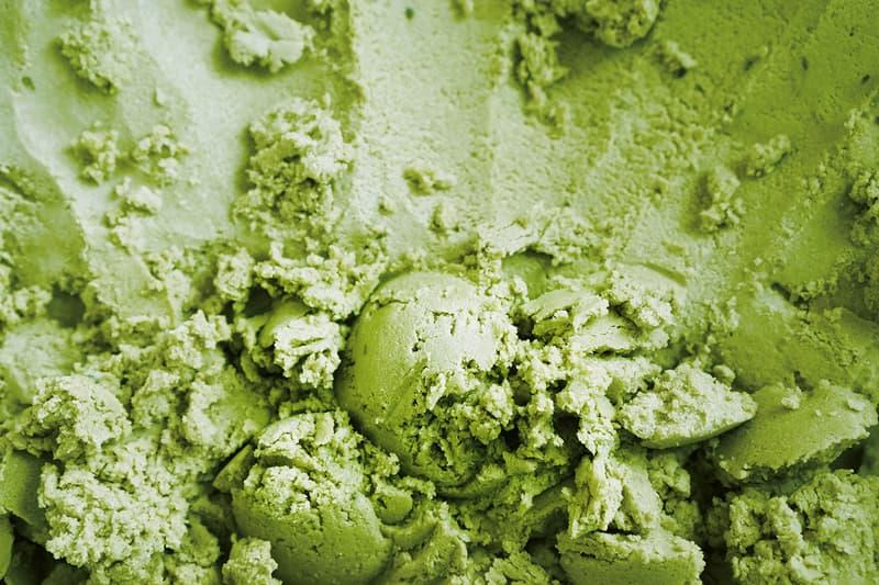 Matcha Ice Cream Green Tea Texture Dessert Food Japanese Japan