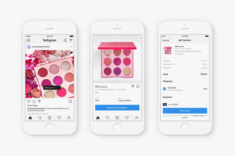 Instagram In-App Shopping Feature ColourPop Palette Makeup
