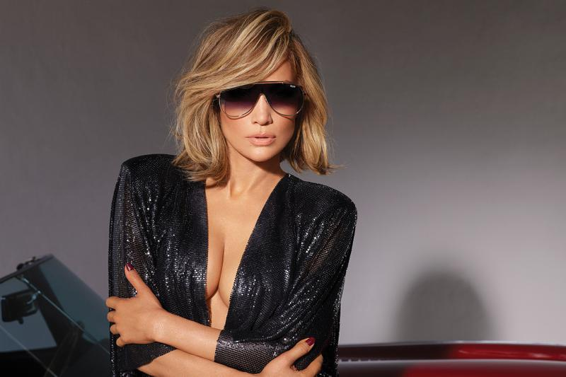 Jennifer Lopez x Quay Australia Sunglasses Collection El Dinero Gold Purple