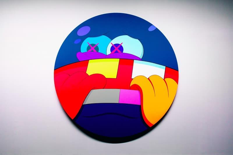 KAWS: ALONG THE WAY Hong Kong Exhibition Artwork Orange Red Blue