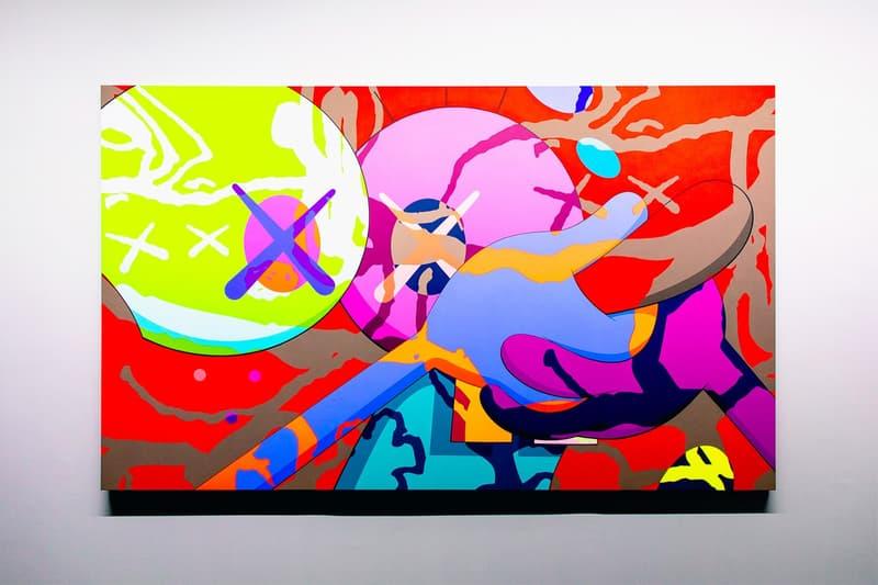 KAWS: ALONG THE WAY Hong Kong Exhibition Artwork Red Orange Yellow
