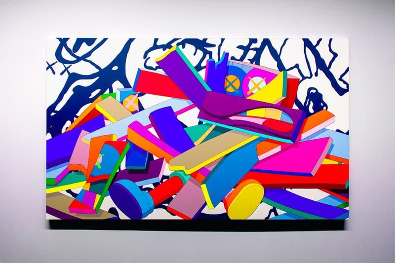 KAWS: ALONG THE WAY Hong Kong Exhibition Artwork Purple Blue Yellow Pink