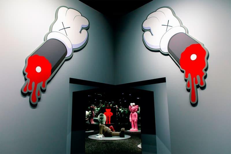 KAWS: ALONG THE WAY Hong Kong Exhibition Artwork Red Grey White