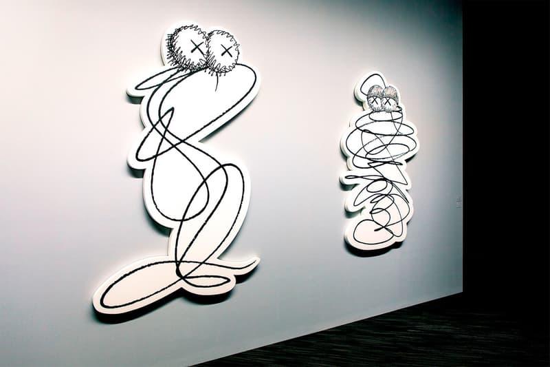KAWS: ALONG THE WAY Hong Kong Exhibition Artwork Grey White