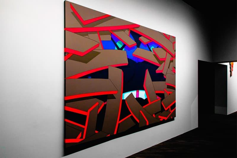 KAWS: ALONG THE WAY Hong Kong Exhibition Artwork Red Brown Blue