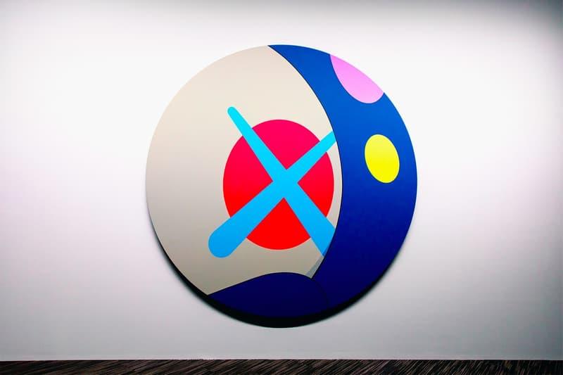 KAWS: ALONG THE WAY Hong Kong Exhibition Artwork White Blue Pink