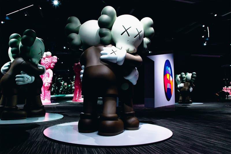 KAWS: ALONG THE WAY Hong Kong Companion Exhibition Sculpture Grey Black Cream