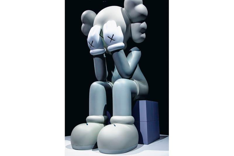 KAWS: ALONG THE WAY Hong Kong Exhibition Companion Sculpture Grey White