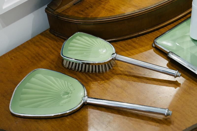 KITH x Estee Lauder Store Office Space New York Brushes Green Silver