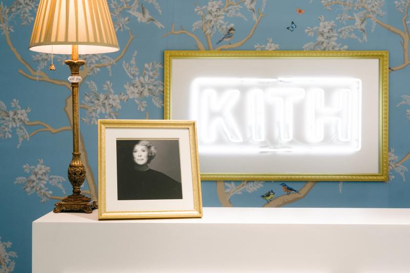 KITH x Estee Lauder Store Office Space New York Light White Picture Lamp Gold