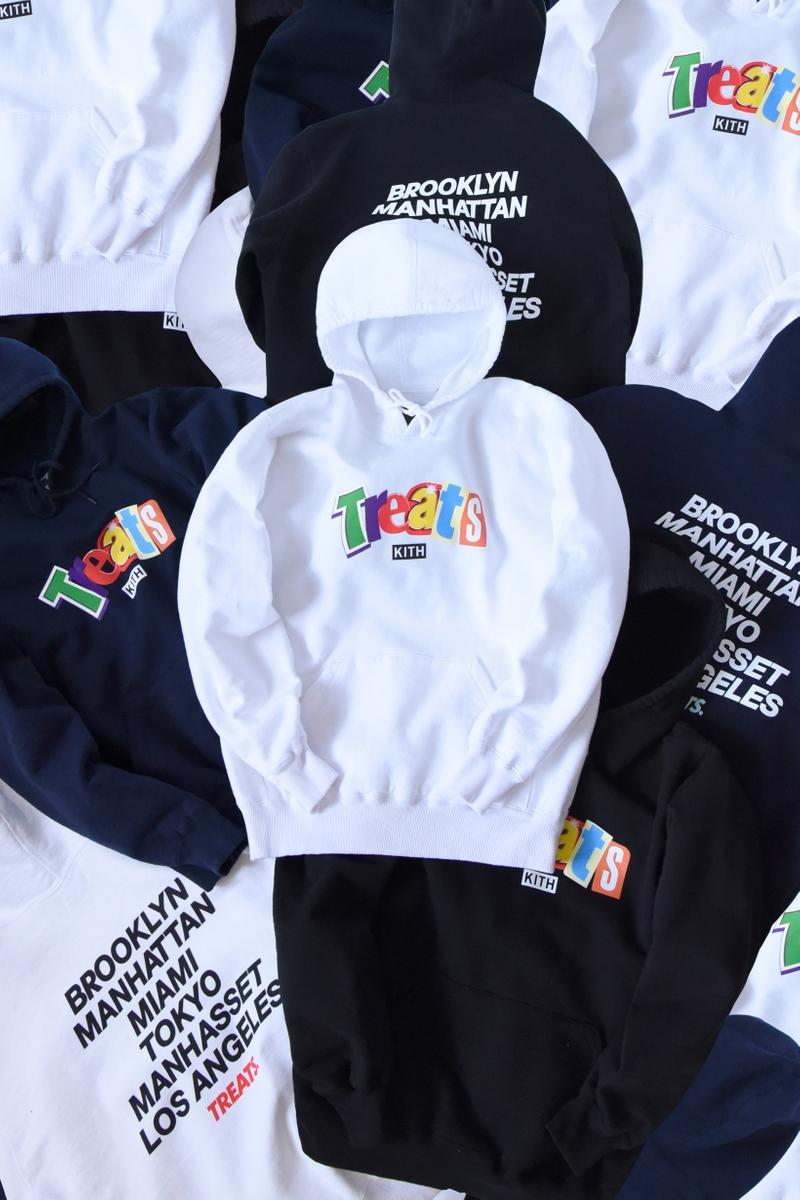 KITH Treats National Cereal Day 2019 Ransom Collection Hoodies Navy White Black