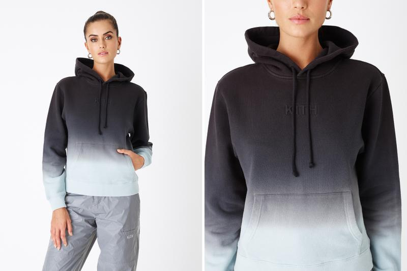 KITH Women Positive Energy Spring 2019 Collection Hoodie Black Grey Blue