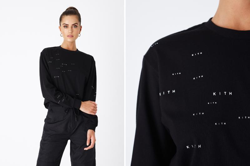 KITH Women Positive Energy Spring 2019 Collection Long Sleeved T-shirt Black