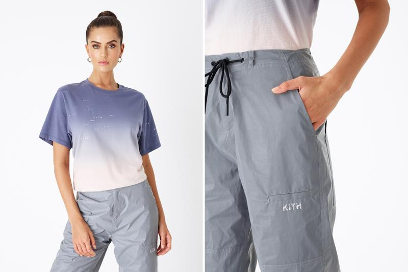 KITH Women Positive Energy Spring 2019 Collection T-shirt Purple Pink Pants Grey