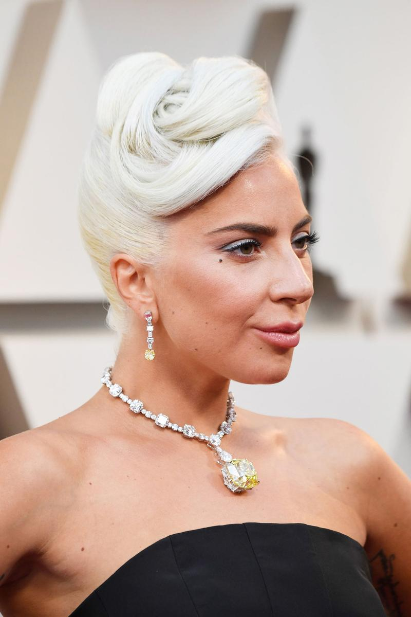 Lady Gaga Oscars 2019 Dress Black Jewelry Silver