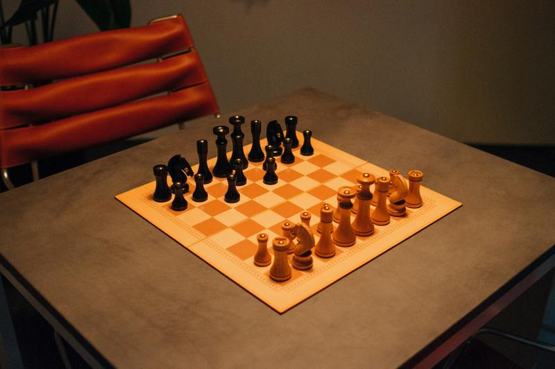 Louis Vuitton Objets Nomades Hong Kong Exhibit Chess Set Cream Brown Black