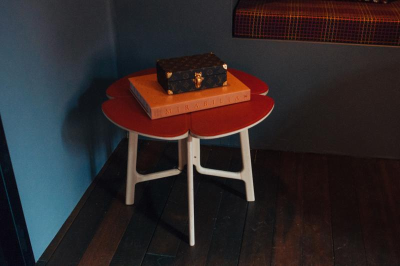 Louis Vuitton Objets Nomades Hong Kong Exhibit Table Red White Case Brown