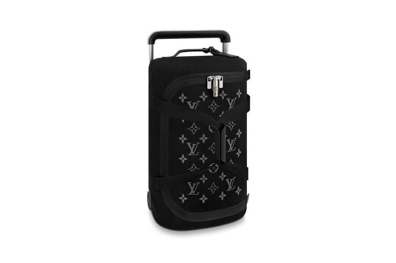 Louis Vuitton Horizon Soft Luggage Logo Collection Black