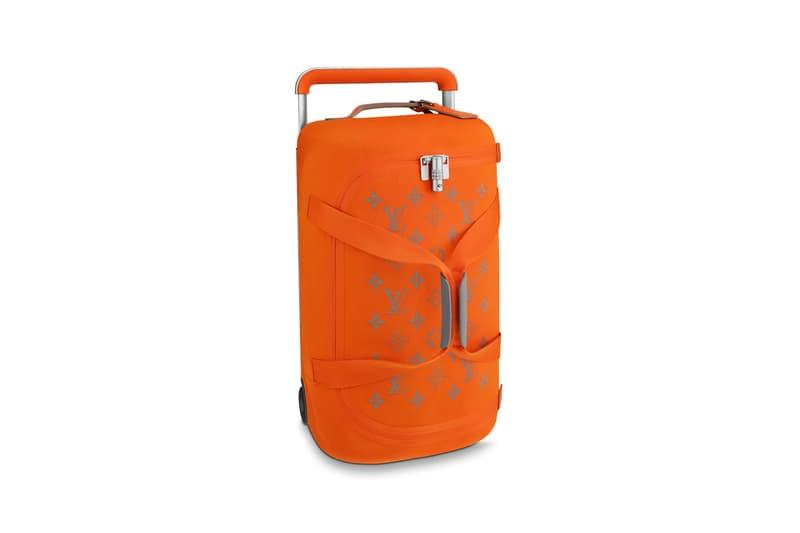 Louis Vuitton Horizon Soft Luggage Logo Collection Orange