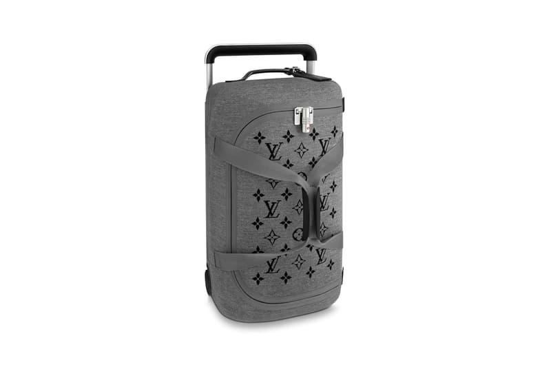 Louis Vuitton Horizon Soft Luggage Logo Collection Grey