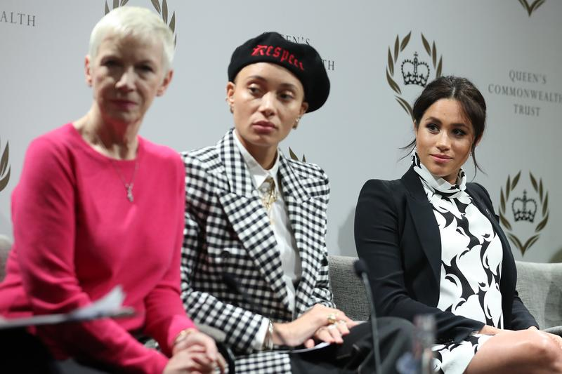 Meghan Markle International Women's Day Panel Adwoa Aboah Annie Lennox